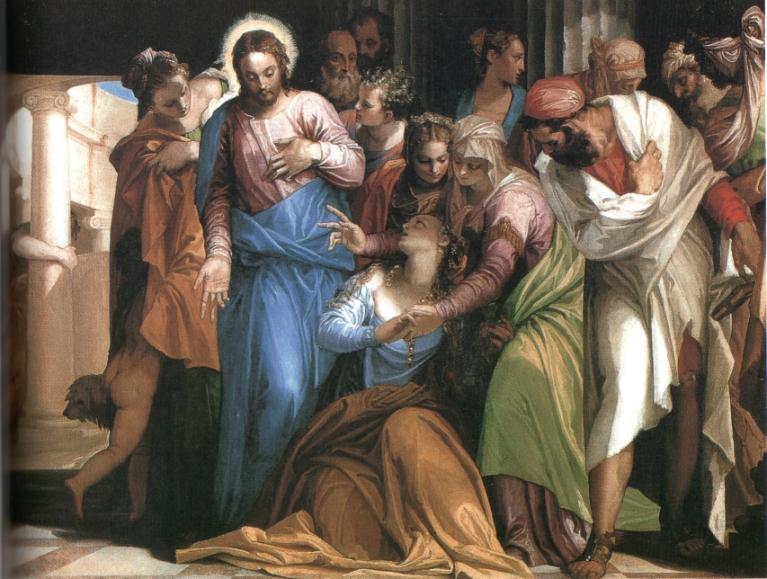抹大拉马利亚忏悔 维洛内塞(P. Veroneses 1528-88)作 油彩·画布, 117*163cm 伦敦·国家画廊